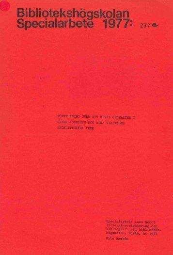 1977 nr 237.pdf - BADA - Högskolan i Borås