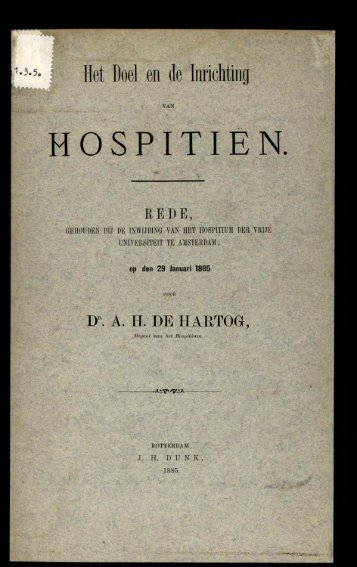 de Hartog - Het ... richting van hospitien.pdf - VU-DARE Home