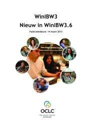 WinIBW3 Nieuw in WinIBW3.6 - OCLC