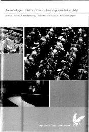 Antropologen, historici en de hartslag van het archief
