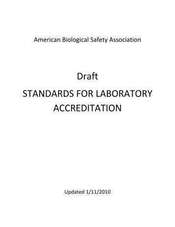 StandardsforLabAccreditation101017 - DHMH