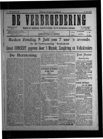 Groot CONCERT gegeven door 't Muziek, Zangkring en Volkskinders