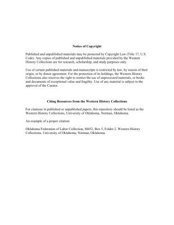 View PDF - Digital Collections - University of Oklahoma