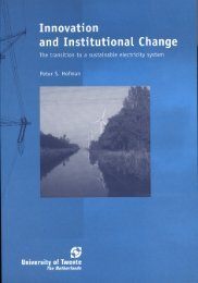 Innovation and institutional change: the transition to a sustainable ...