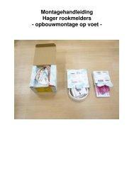 Montagehandleiding: montage rookmelders op voet - Hager
