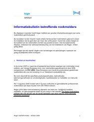 Informatiebulletin betreffende rookmelders - Hager