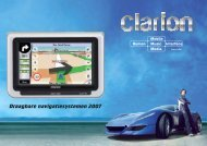 Draagbare navigatiesystemen 2007 - Clarion