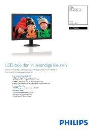 223V5LHSB/00 Philips LCD-monitor met SmartControl Lite