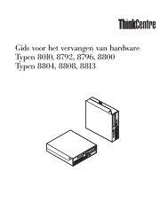 Gids voor het vervangen van hardware - Lenovo