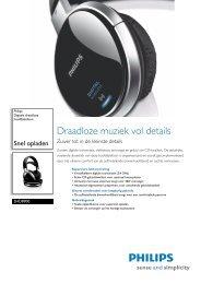 SHD8900/00 Philips Digitale draadloze hoofdtelefoon