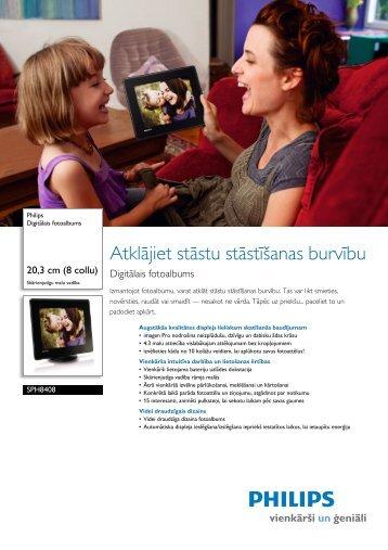 Leaflet SPH8408_10 Released Latvia (Latvian) High-res ... - Philips
