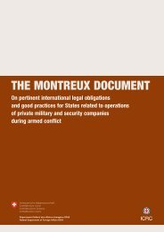 The Montreux Document on Private Military and Security ... - ICRC