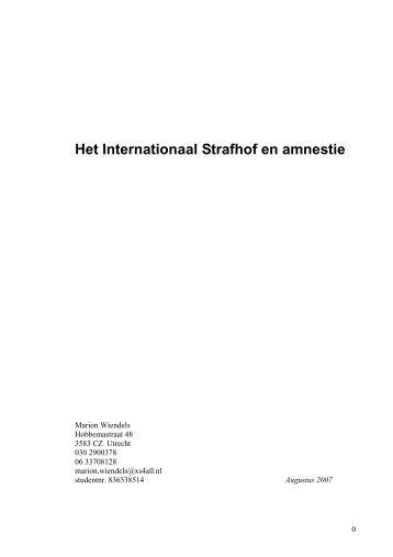 Het Internationaal Strafhof en amnestie - DSpace at Open Universiteit