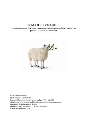 COMPETENTE VACATURES - DSpace at Open Universiteit