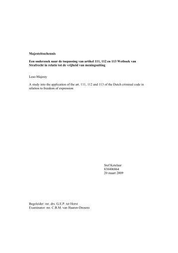 Majesteitsschennis! - DSpace at Open Universiteit