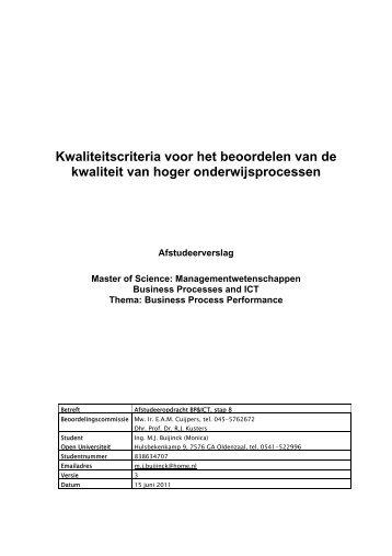 Kwaliteitscriteria voor beoordelen van - DSpace at Open Universiteit