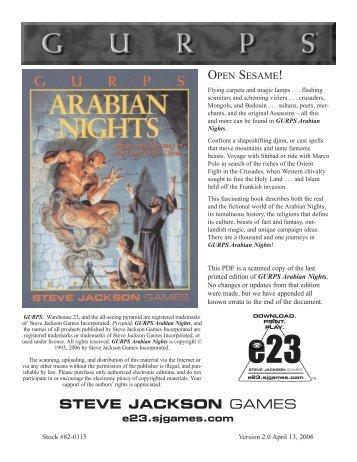 Preview of the PDF - e23 - Steve Jackson Games