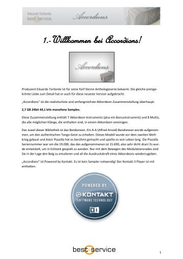 Deutsches Handbuch - Best Service