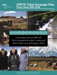 OPPTS Tribal Strategic Plan - US Environmental Protection Agency