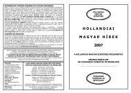 Hollandiai Magyar Hírek 2007. - EPA - Országos Széchényi Könyvtár