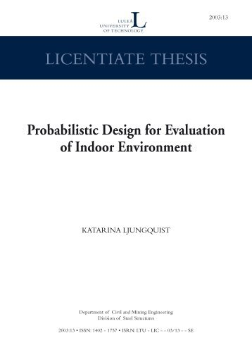LICENTIATE THESIS