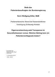 Rede Wolfgang Zöller als PDF-Datei - Kassenärztliche Vereinigung ...