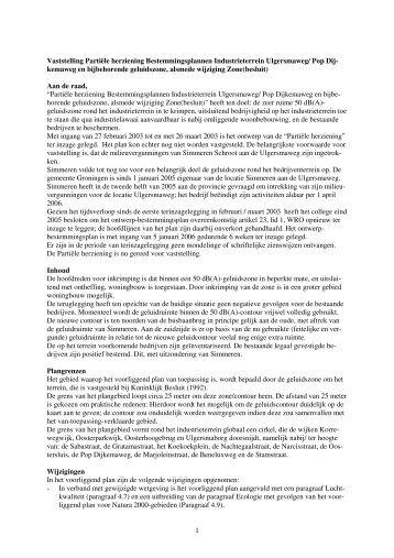 Raadsvoorstel Partiële herziening Bestemmingsplannen ...