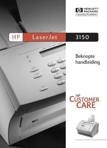 Kennismaken met de HP LaserJet 3150