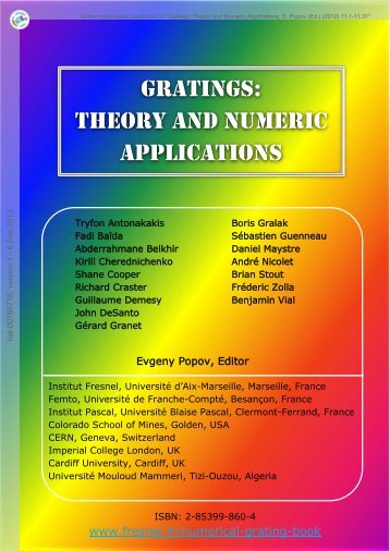 GratinGs: theory and numeric applications