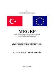 10 Klasik Usullerde Servis - Milli Eğitim Bakanlığı