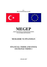 muhasebe ve fi̇nansman financial terms and stock exchange terms 1