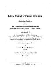 Kritisk öfversigt af Finlands Fisk-fauna. - Helda