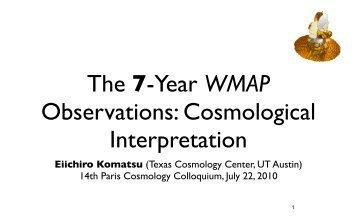 Eiichiro Komatsu (Texas Cosmology Center, UT Austin) 14th Paris ...