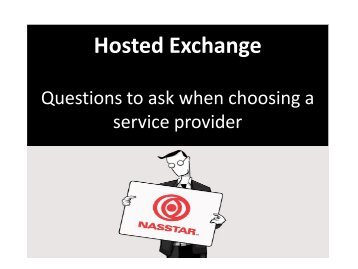 Checklist: Choosing a Hosted Exchange Service Provider