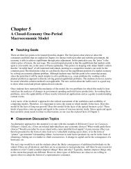 Chapter 5 A Closed-Economy One-Period Macroeconomic Model