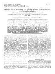 Enteropathogenic Escherichia coli Infection Triggers Host ...