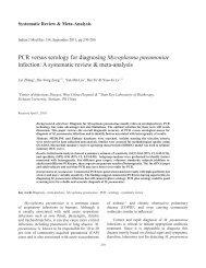 PCR versus serology for diagnosing Mycoplasma pneumoniae ...