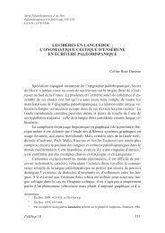 Les Ibères en Languedoc: l'onomastique celtique d'Ensérune en ...