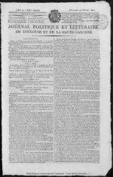 JOURNAL POLITIQUE ET LITTÉRAIRE - Bibliothèque de Toulouse