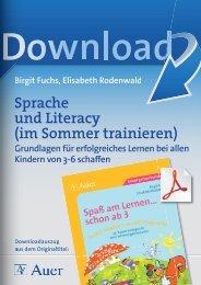 Sprache und Literacy (im Sommer trainieren)