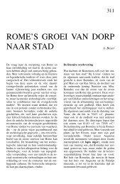 ROME'S GROEI VAN DORP NAAR STAD - Tresoar