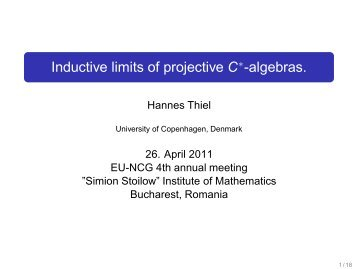Inductive limits of projective C*-algebras. - IMAR