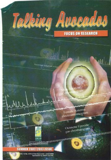 Summer 2002 Volume 13 No 4 - Avocados Australia - Australian ...
