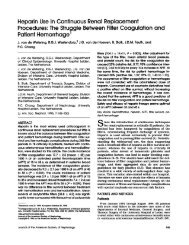 Heparin Use in Continuous Renal Replacement Procedures: The ...