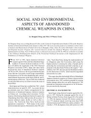 Social and Environmental Aspects of Abandoned Chemical ...
