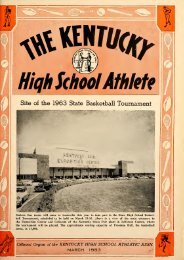 Athlete, The - Kentucky High School Athletic Association