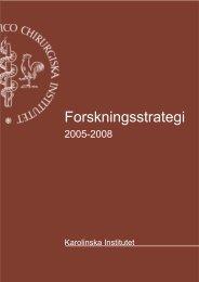 Forskningsstrategi - Karolinska Institutet