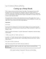 Cutting up a Damp Skunk - Linguistics