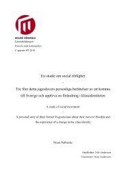 En studie om social rörlighet - Tre före detta jugoslavers personliga ...