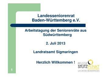 Pflegestützpunkt - Hans-Peter Oßwald - Der Landesseniorenrat ...